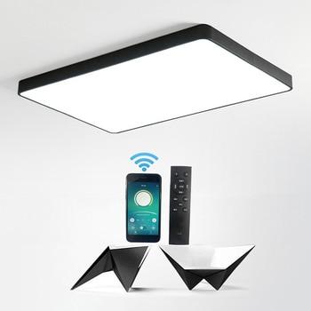 Moderna lámpara de techo LED ultradelgada de 5cm de estilo nórdico cuadrado de hierro, luz de techo negra/sala de estar blanca para, dormitorio, Vestíbulo interior