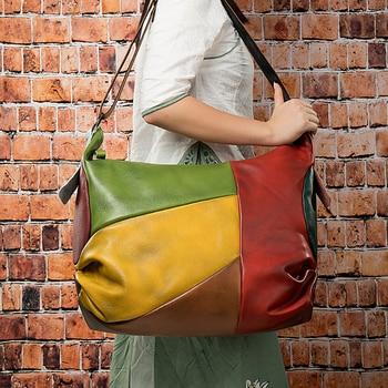 MAHEU High Fashion Leather Woman Travel Shoulder Bag Bohemia Style Crossbody Bags Messenger Bag For Travelling Large capacity