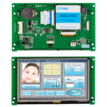 5 Intelligent UART TFT LCD Display Module with Controller Board +Embedded System Support Any MCU/PIC 7 0 inch hmi tft lcd module with innolux screen controller board support any microcontroller