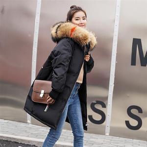 Image 5 - Vêtements à capuche pour femmes, manteaux féminins épais, taille large, avec veste chaude, fermeture éclair, parka longue, collection dhiver, collection décontracté