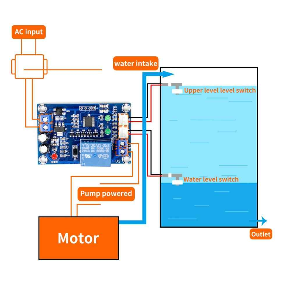XH-M203 Water Level Controller Otomatis Pengontrol Level Air Air Level Switch Pengontrol Pompa Air S18 DROP Shi