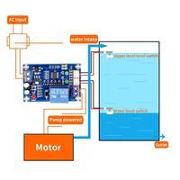 XH M203 su seviye kontrolörü otomatik su seviye kontrolörü su seviyesi anahtarı seviyesi su pompası kontrolörü S18 Drop shi|Entegre Devreler|   -