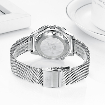 Automatic Self Wind Mechanical Net Stainless Steel Nylon Strap Luxury Men New Limited Watch 4