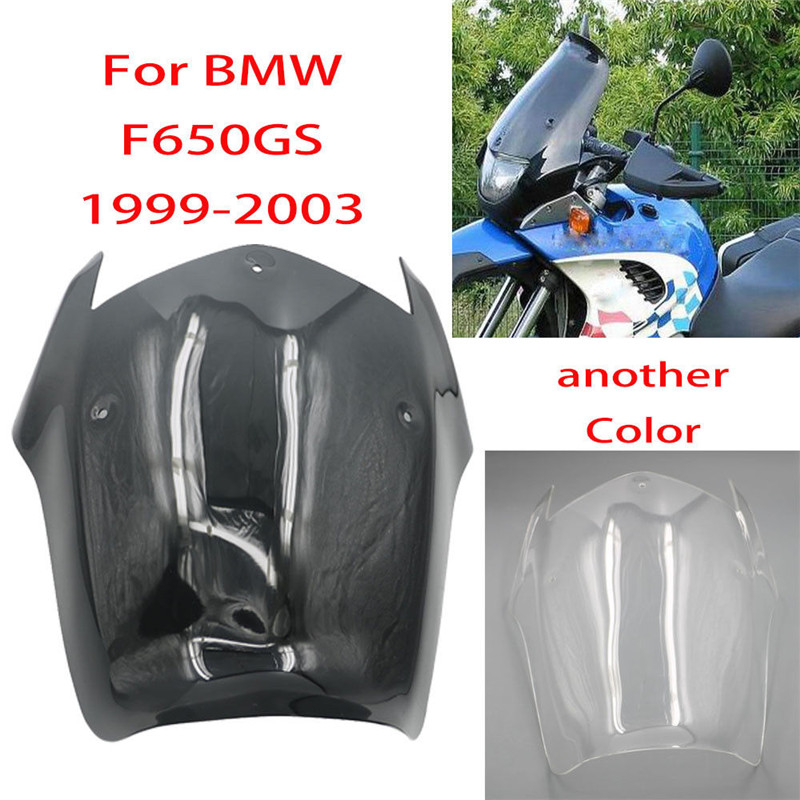F650GS 99-03 Black Clear Motorcycle Windshield WindScreen Wind Shield Screens Deflectors For BMW F650 F 650 GS 1999 2000 2001