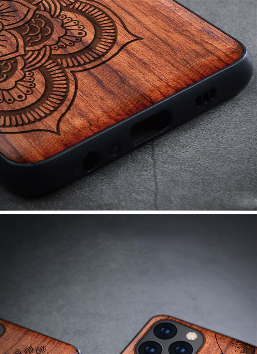 100% Natural Wooden Case For iPhone 12 Mini