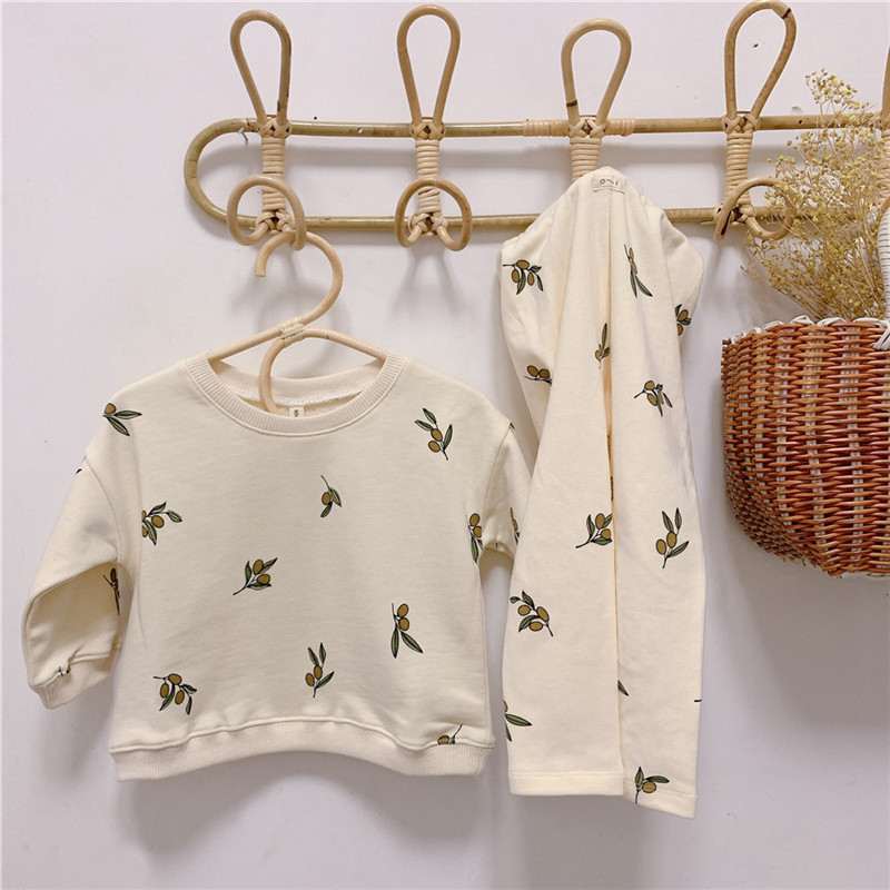 Newborn Sets Unisex Clothes Tops Sweatshirt and Pants Child Boys Casual Fashion Kids Long Sleeve Girl Boy Cotton Clothes Sets 1