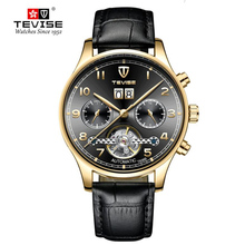 TEVISE Mechanical Mens watches top brand