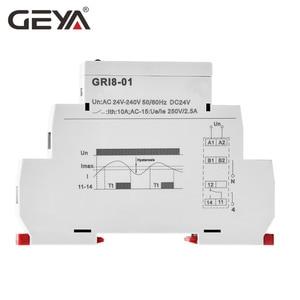 Image 3 - משלוח חינם GEYA GRI8 01 הנוכחי ניטור ממסר הנוכחי טווח 0.5A 16A AC24 240V או DC24V הנוכחי חישה ממסר