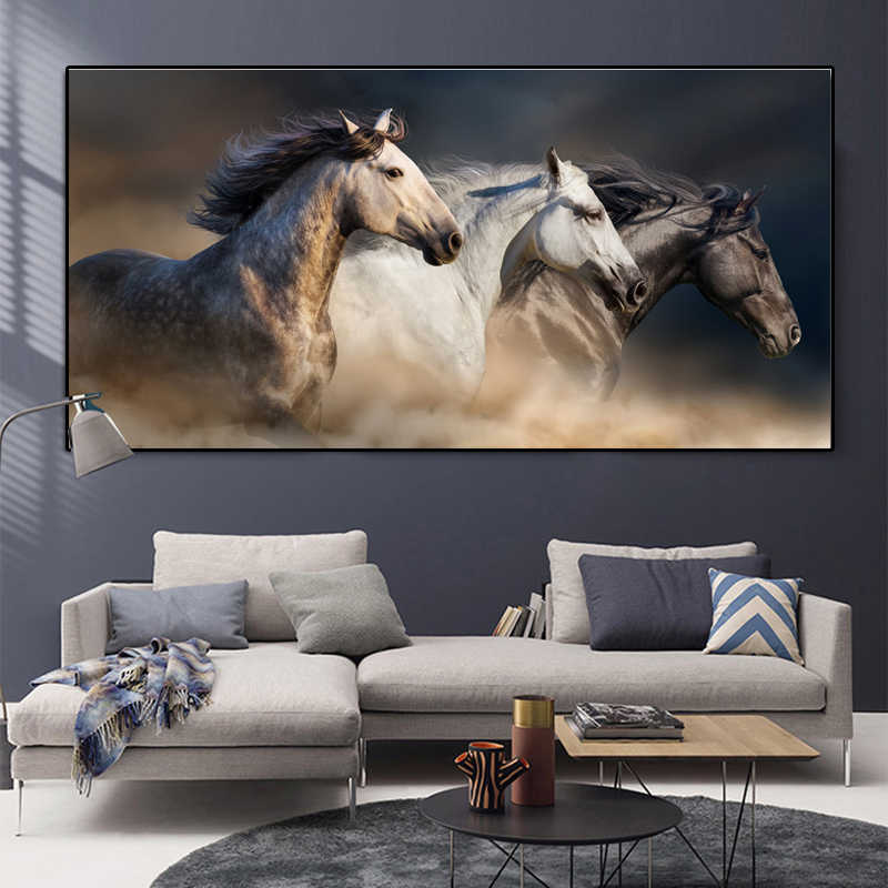 Horse Art Landscape Canvas Painting Modern Animal Poster Wall Art Posters And Prints Wall Pictures For Living Room Home Decor