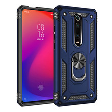 Luxury Armor Magnetic Soft Shockproof Case On The For Xiaomi Redmi Note 7 K20 Pro Silicone Car Holder Ring