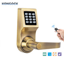 Electronic digital smart door Lock, Unlock with Remote Control, M1 Card, Code and Key, Handle Direction Reversible smart electronic door lock digital safe keypad intelligent door lock unlock by code card and mechanical key with 2 cards