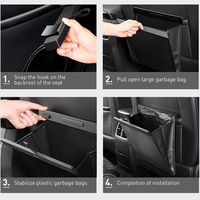 Baseus Car Organizer Car Trunk PU Leather Back Seat Storage Bag Auto Cargo Storage Box Universal For Cars Luggage Travel Pocket