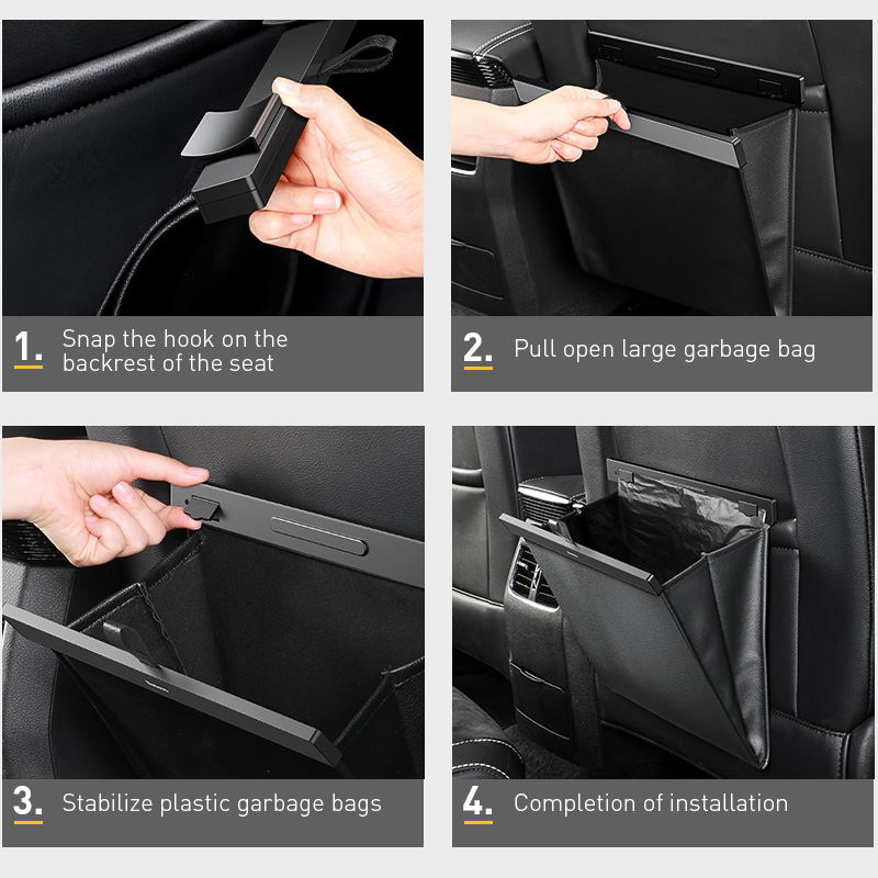 Автомобильный Органайзер Baseus, автомобильный багажник, искусственная кожа, сумка для хранения на заднее сиденье, автомобильный грузовой ящик для хранения, универсальный для автомобилей, багаж, дорожный карман