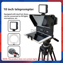 2021 10-Inch New Mini Teleprompter Portable Inscriber Mobile Artifact Video With Remote Control for Phone and DSLR Prompter
