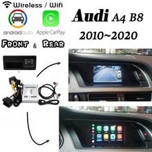 Беспроводной Carplay для Audi A4 B8 B9 8k MMI 3g 2010~ интерфейс задняя фронтальная камера Android дисплей Улучшенный декодер