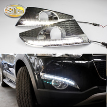 цена на For Chevrolet Captiva 2011 2012 2013 Daylight turn Signal Relay Car-styling LED DRL Daytime Running Lights with fog lamp hole
