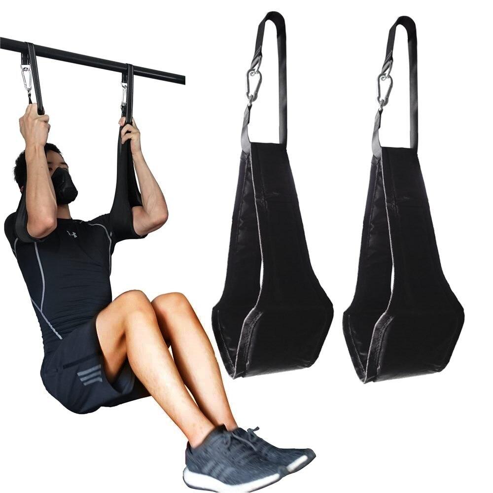 Fitness AB Sling sapanlar süspansiyon Rip dayanıklı ağır hizmet tipi çift Pull Up Bar için asılı bacak Raiser ev spor Fitness ekipmanı|Yatay Çubuklar|   -