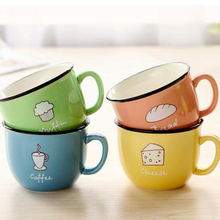 Cartoon cute cup ceramic about 350ml mug breakfast coffee milk cup couple drinking cup creative student with cup Handgrip Mugs cartoon cute cup ceramic about 350ml mug breakfast coffee milk cup couple drinking cup creative student with cup handgrip mugs