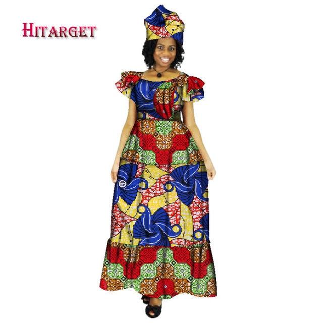 Женское платье с принтом bazin riche длинное в африканском стиле