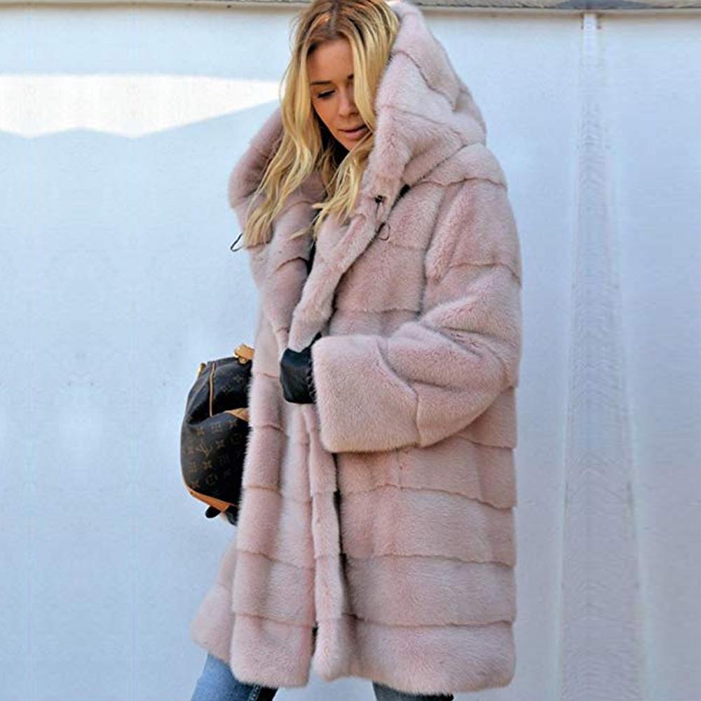 Winter Fashion Faux fur coat Women Loose Warm Hooded Fur jacket Long Coats  Womens Fluffy Soft Casual Fur Coat Thick Overcoat|Faux Fur| - AliExpress