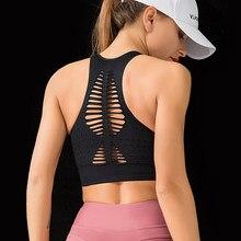 Seamless Sports Bra Top Fitness Women Racerback Running Crop Tops Workout Padded Yoga Bra High Impact Activewear New 2021