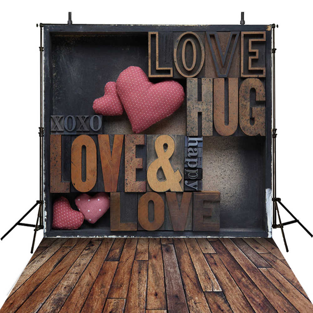 8x8FT Vinyl Photo Backdrops,Love,Valentines Day Themed Hearts Photoshoot Props Photo Background Studio Prop