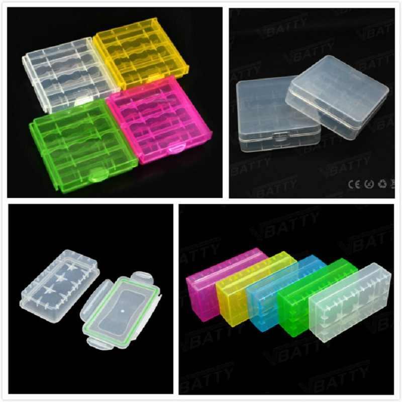 Caixa de armazenamento de bateria 18650 plástico para 18650 2/4 espaços, caixa de silicone 18650 21700 20700, caixa de bateria aaa para aa caso muito barato
