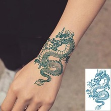 Chinese Dragon Fake tattoo Water Transfer Waterproof Temporary Sticker Women Men sexy Beauty Body Art Cool Stuff Arm Art