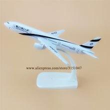 16cm liga de metal modelo de avião ar el al israel airways boeing 777 b777 linhas aéreas modelo de avião w suporte aeronaves presente
