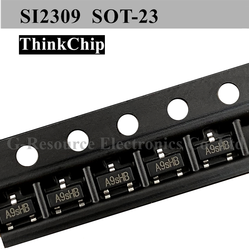 (100 Pcs) SI2309 SOT-23 2309 2.8A SMD MOS FET Transistor P-Channel Field Effect Transistor (Marking A9SHB)