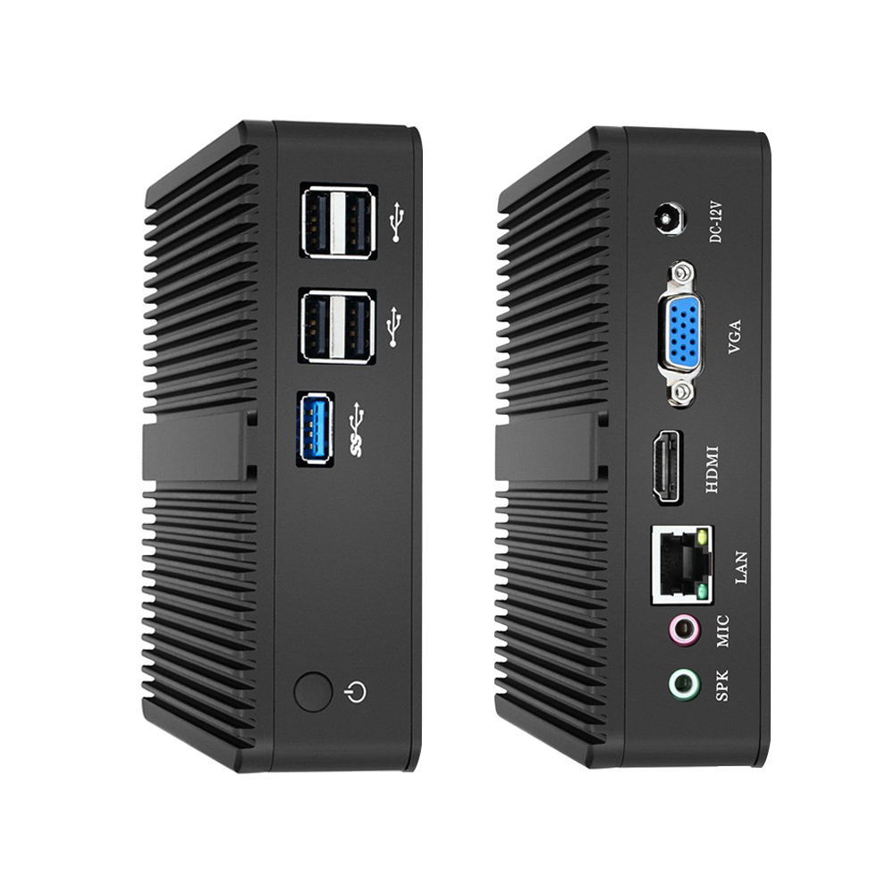 Xcy Intel Mini PC Dual-Core Windows 10 dengan Vga HDMI Komputer Desktop J1900 J1800 Minipc Micro Portatil HTPC tanpa Kipas Cadeira