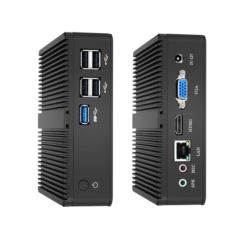 XCY Intel Mini Pc Dual-Cores Windows 10 With Vga Hdmi Computer Desktop J1900 J1800 Minipc Micro Portatil Htpc FanlessComputador