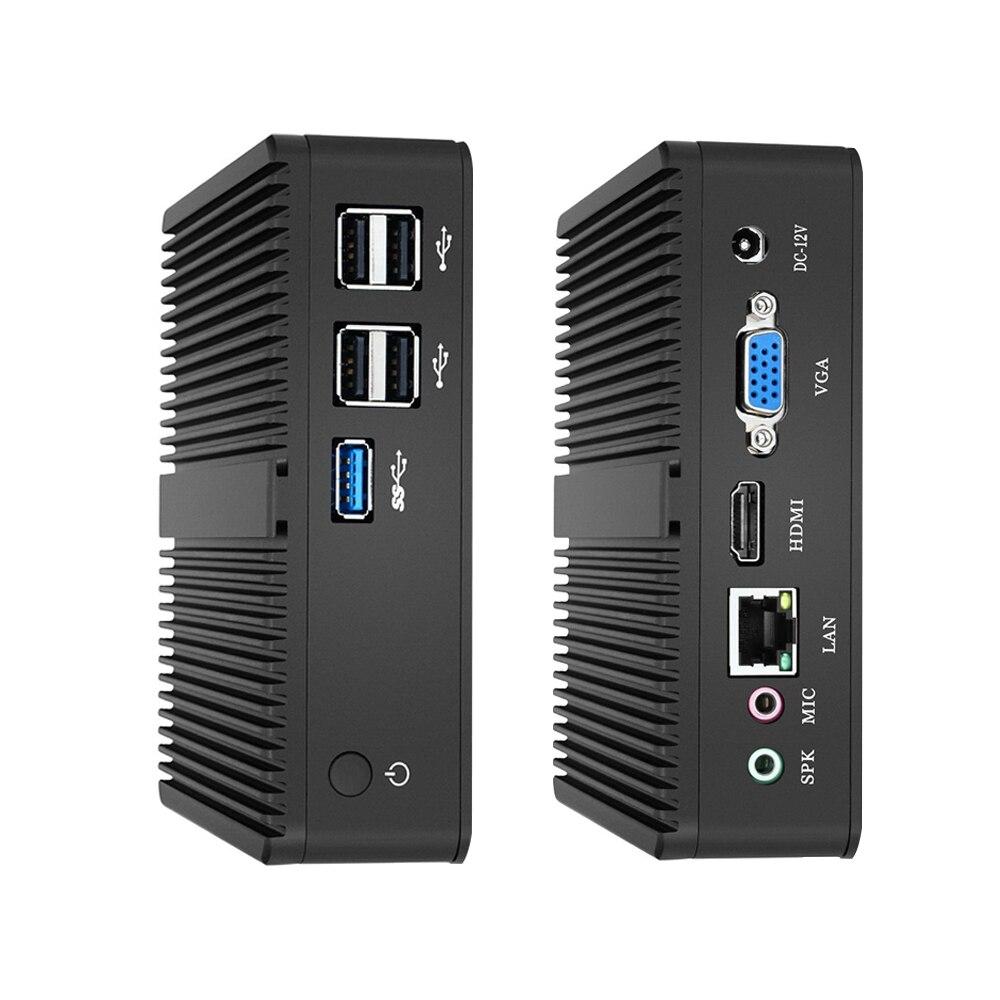 Xcy intel mini pc duplo-núcleos windows 10 com vga hdmi computador desktop j1900 j1800 minipc micro portatil htpc fanless computador