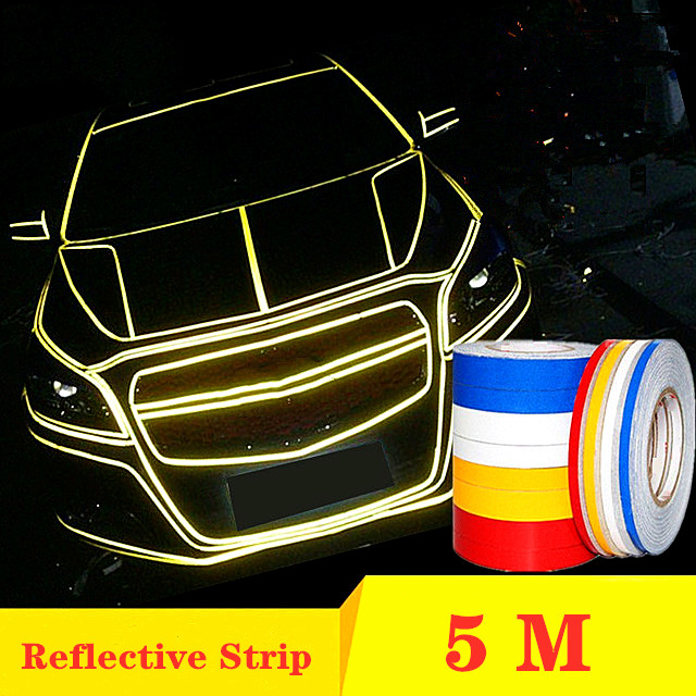 Reflecterende Tape Auto Stickers Grappige Decal DIY Licht Lichtgevende Waarschuwing Glow Dark Night Tapes Sticker Veiligheid Auto-covers Accessoires