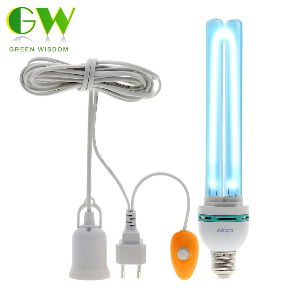 UVC Ultraviolet Germicidal Light Bulb E27 Home Disinfection Lamp Ozone UV In Addition Mite Lights Sterilization Lamp Bulb AC220V