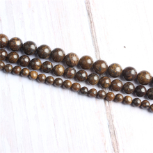 Bronze ash Natural Stone Beads For Jewelry Making Diy Bracelet Necklace 4/6/8/10/12 mm Wholesale Strand