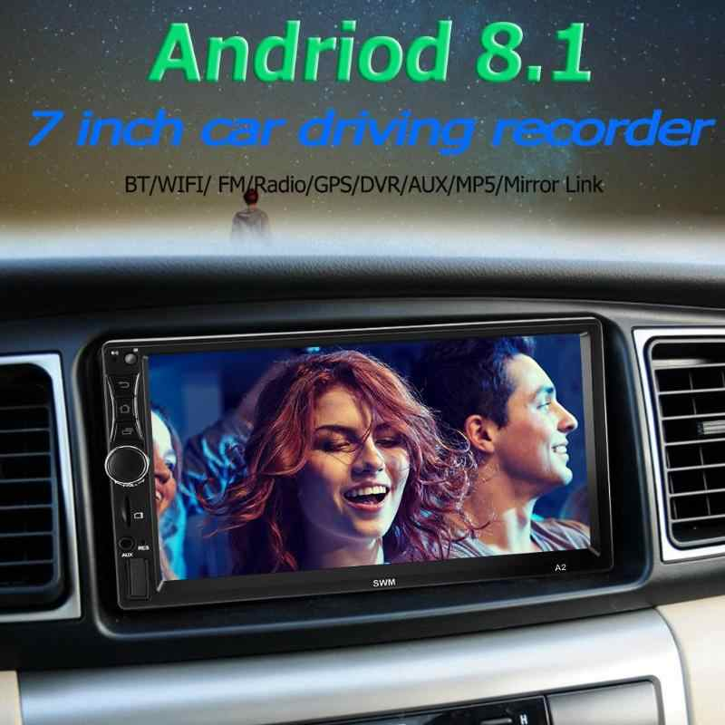 SWM A2 2Din Layar Sentuh 7 Inch Android 8.1 Car Radio Stereo Video MP5 Player GPS Navi Bluetooth WIFI USB TF Mobil MP4 MP5 Pemain