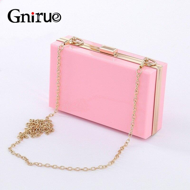 Новинка 2020, Женский акриловый розовый вечерний клатч, Классические женские сумки через плечо, женские кошельки и сумки, сумка, летняя сумка