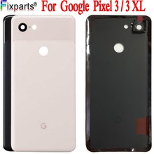 Pełna nowość dla Google Pixel 3 XL pokrywa baterii drzwi tylna obudowa tylna obudowa dla Google Pixel 3 tylna pokrywa baterii części zamienne
