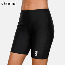 Charmo Women Sports Swimming Ladies Boy Shorts Bikini Bottom Swimwear Briefs Short Skinny Swim Trunks  Slim Beach Wear