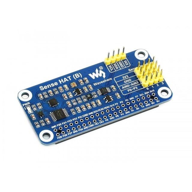 Sense HAT (B) pour Raspberry Pi à bord de capteurs multi puissants prend en charge les capteurs externes 3.3V I2C