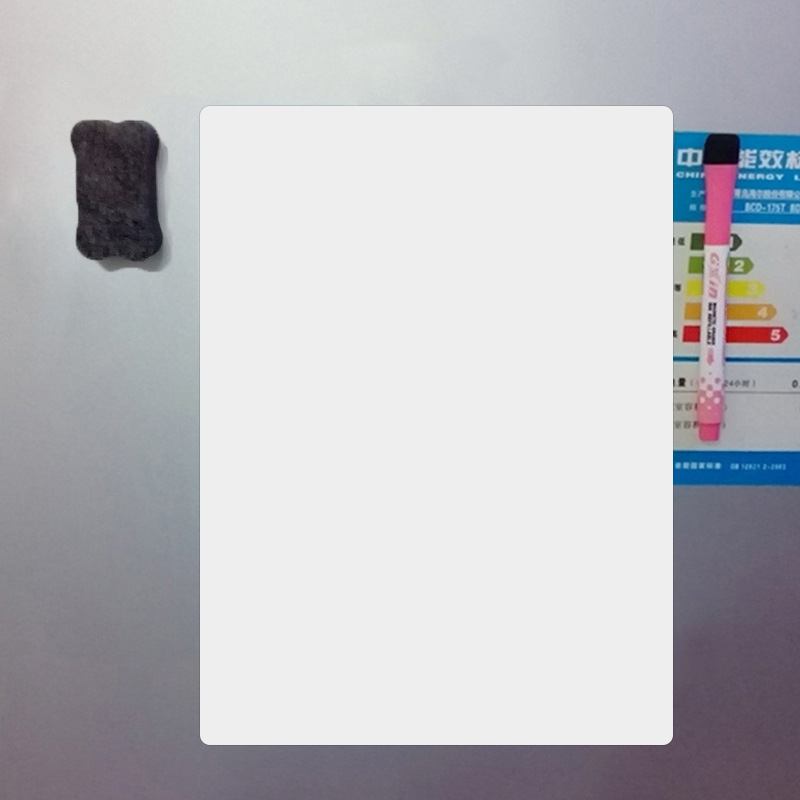 A4 Size Soft Whiteboard Writing Board Magnetic White Board Fridge Writing Board Removable Whiteboard