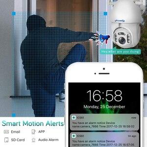 Image 4 - 1080P наружная Wi Fi камера с автоматическим отслеживанием умная беспроводная домашняя камера безопасности PTZ CCTV Аудио скоростная купольная IP камера видеонаблюдения iCSee
