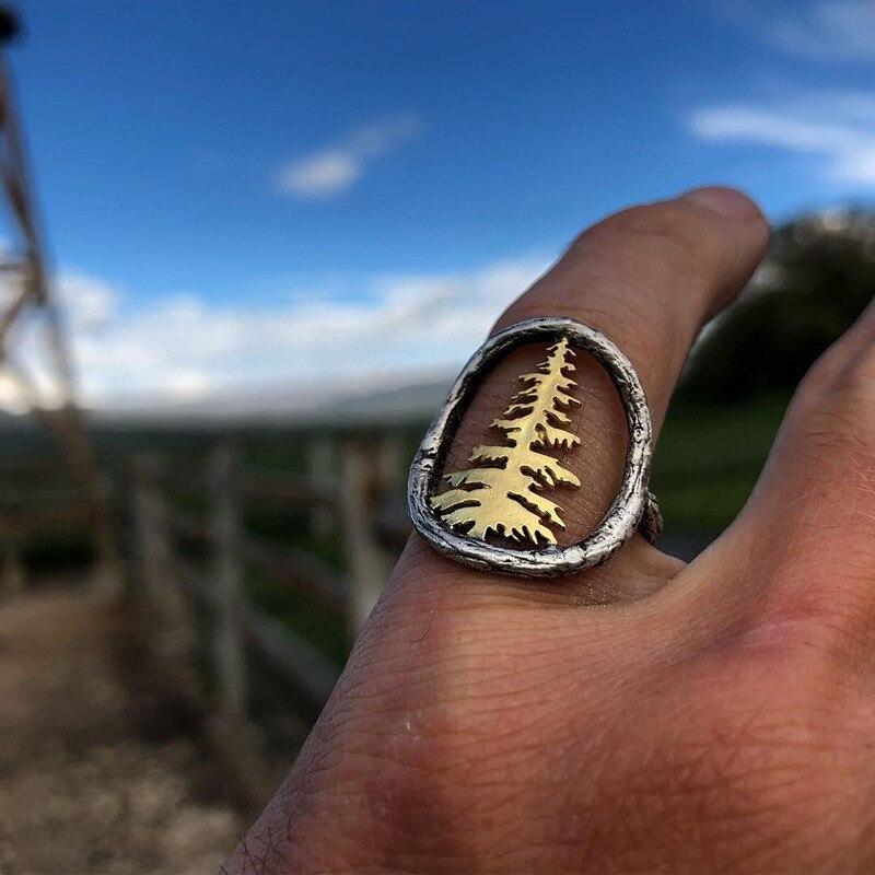 FFLACELL Новая мода для мужчин и женщин Дерево двухцветное кольцо банкет праздник годовщина день рождения ювелирные изделия подарок