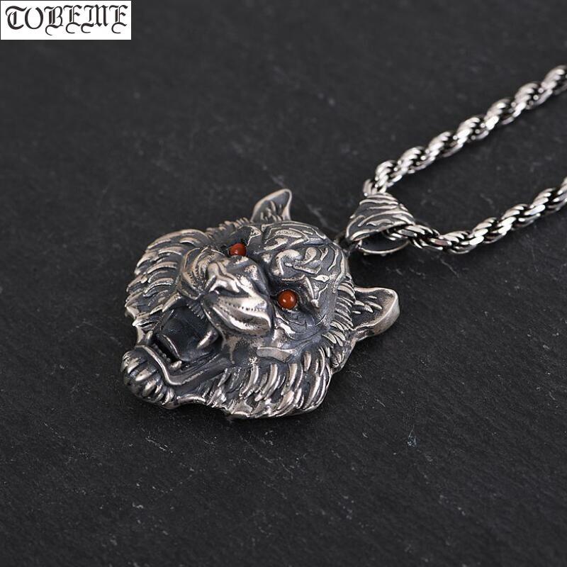 100% 925 argent artisanal tigre pendentif collier 925 Sterling puissance tigre homme pendentif bonne chance pendentif Rock bijoux