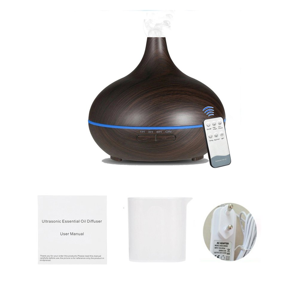 550ml Remote Control Aroma Air Humidifier Essential Oil Diffuser Aromatherapy Electric Ultrasonic Cool Mist Maker Aroma Lamp