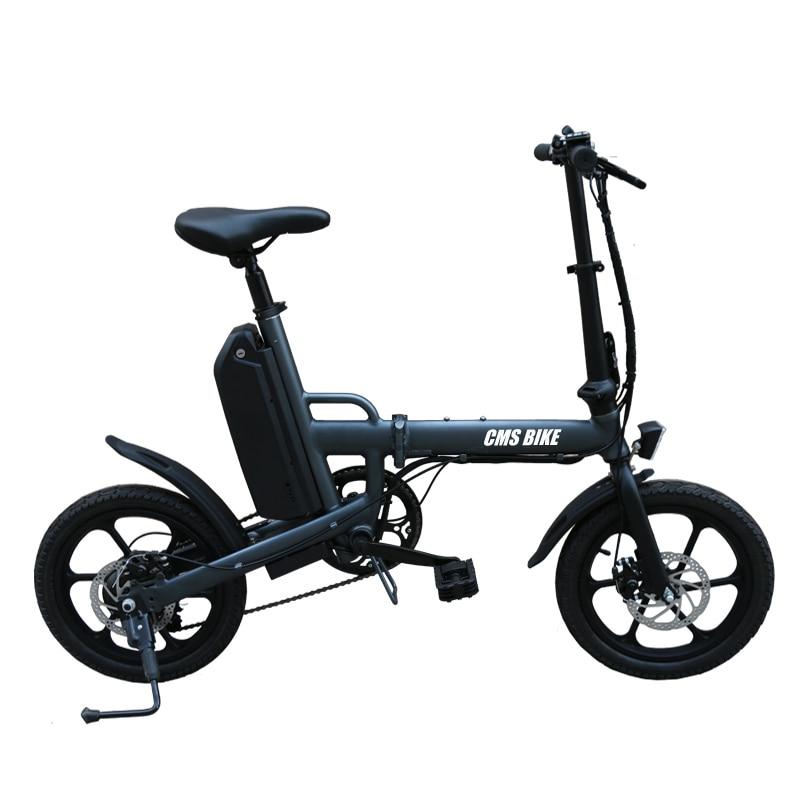 16 inch intelligent disc brake foldable electric bike 6 speed brushless motor folding e-bike 1