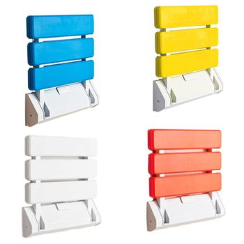 Plastic Folding Chair Bathroom Stool Wall Mounted Shower Seats Toilet Relaxing Bench for Shower Locker Room
