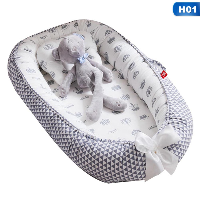 Foldable Washable Portable Pressure-proof Crib For Newborn Sleep Baby Infant Cotton And Breathable Lounger Nest