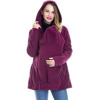 Толстовка с капюшоном для беременных зимняя женская одежда 2019 кенгуру куртка теплая толстовка с капюшоном для беременных на молнии пальто ...